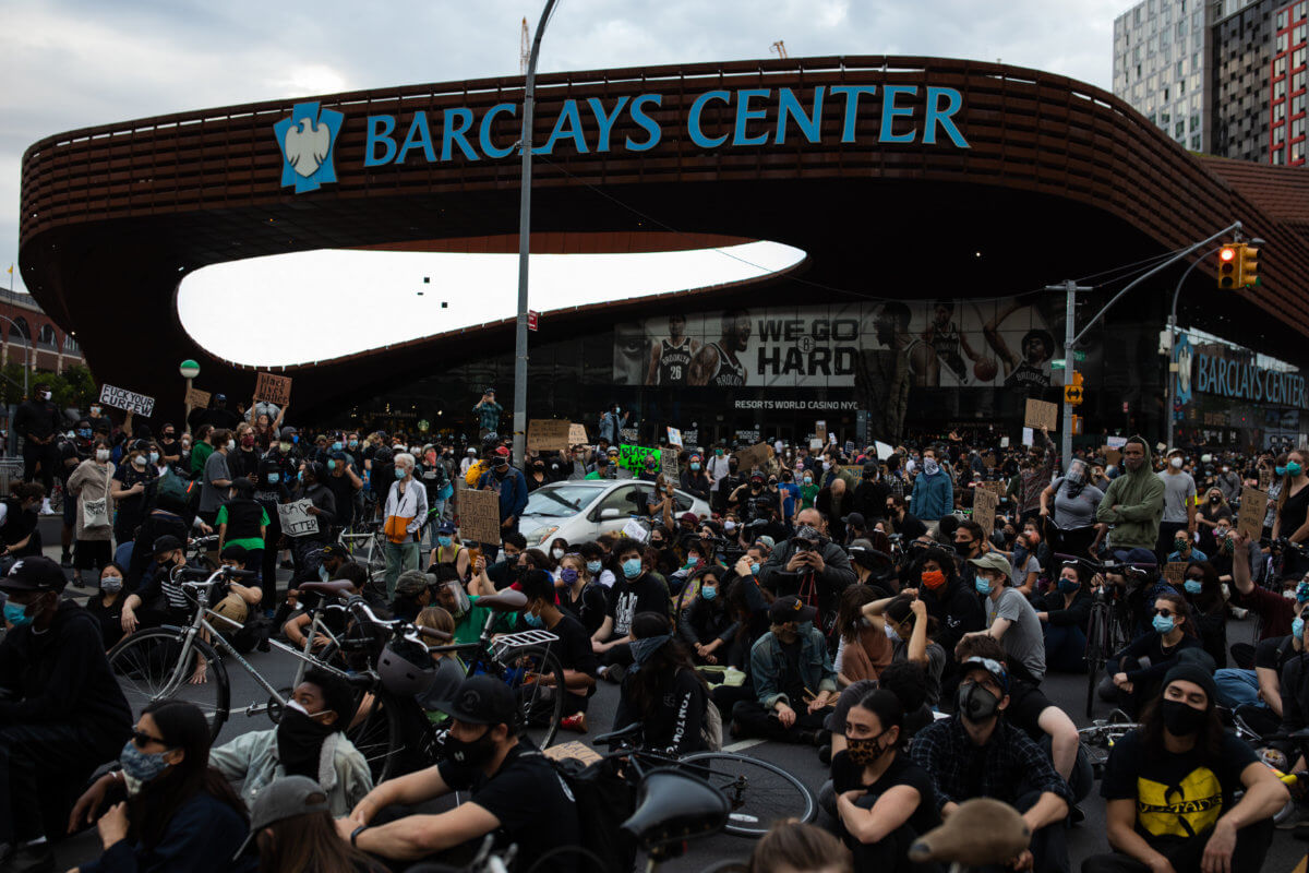 Protests at Barclay Center Brooklyn NY done nightly for the past 8 days